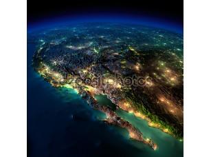 Фотообои «Земля ночью. часть Северной Америки - Мексика и Западной u»