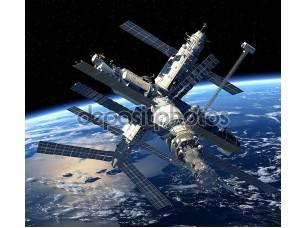 Фотообои «Земля орбиты космической станции»