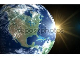 Фотообои «Земли и солнца. Восход пространства Америки»