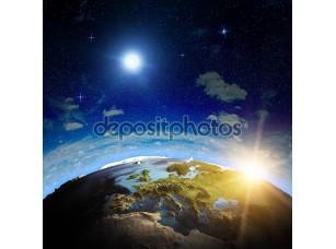 Фотообои «европейский восход солнца»