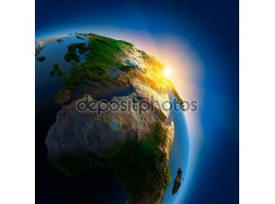 Фотообои «Восход солнца над земли в космическом пространстве»