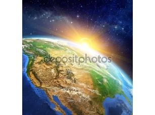 Фотообои «Восход солнца над землёй»