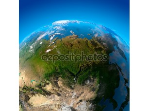 Фотообои «Азия, Дальний Восток, Сибирь, вид со спутников»