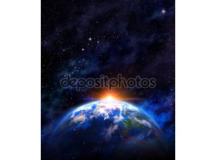 Фотообои «Вид с космоса на землю»