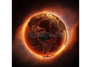 Фотообои «Земля, жжение после глобальной катастрофы»