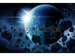 Фотообои «апокалипсис взрыва планеты»