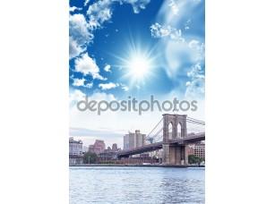 Фотообои «Бруклинский мост с красивым небом»