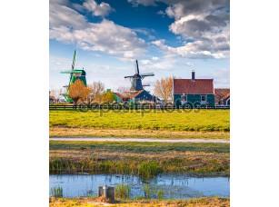 Фотообои «Аутентичная архитектура Голландии в Zaanstad»