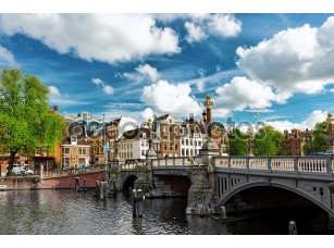 Фотообои «Amsterdam with canal in the downtown,Holland.»