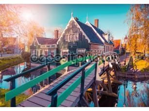 Фотообои «Tipical Dutch village Zaanstad»