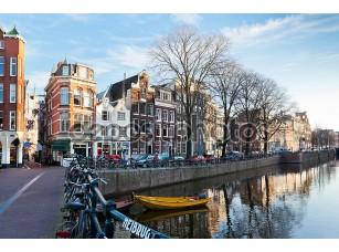 Фотообои «Амстердам канал улицу зимой»