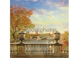 Фотообои «Вид на Кремль. Панорама Москвы»