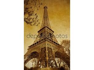 Фотообои «Vintage Париж Эйфелева башня (Париж, Франция)»