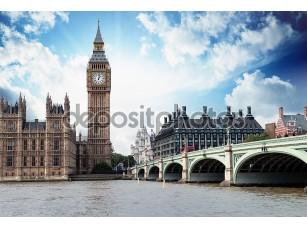 Фотообои «Биг-Бена, дома парламента и Вестминстерского моста в»