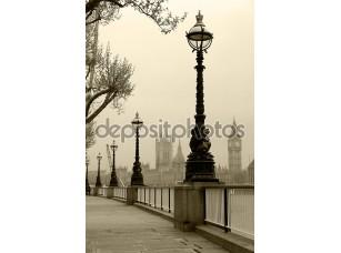 Фотообои «Биг Бен и здание парламента, смотреть в тумане»