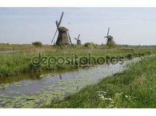 Фотообои «Мельница на Холланд Киндердейк»