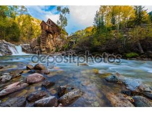 Фотообои «осень в кристаллическом заводе колорадский пейзаж»