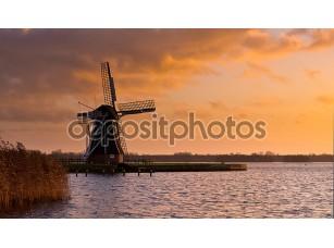 Фотообои «Ветер мельница МОЛЕН Нидерланды»