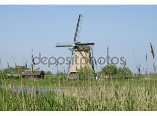Фотообои «Ветряных мельниц Киндердейк в Голландии»
