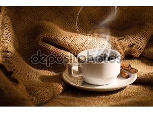 Фотообои «Белый кофе Кубок с дымом»