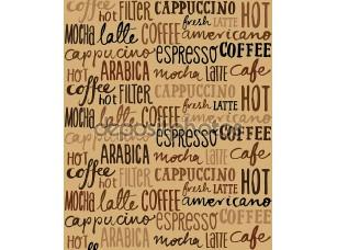 Фотообои «бесшовные кофе шаблон»