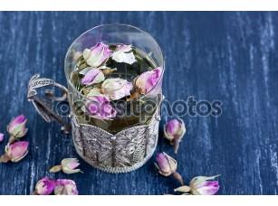Фотообои «tea with rose buds»