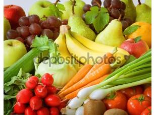 Фотообои «Ассортимент свежих овощей и фруктов»