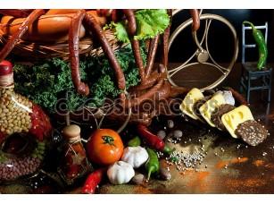 Фотообои «Ассорти из копченого мяса»