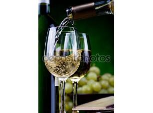 Фотообои «белое вино и сыр»