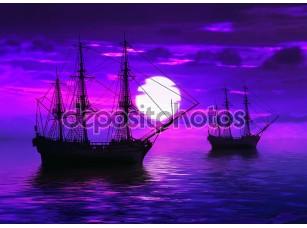 Фотообои «Два корабля»
