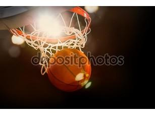 Фотообои «баскетбол происходит через корзину»