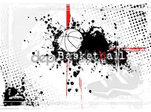Фотообои «баскетбольный плакат»