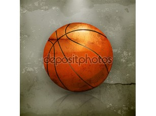 Фотообои «баскетбол, старый стиль вектор»