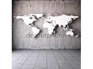 Фотообои «абстрактная мировая карта»