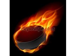 Фотообои «Burning hockey puck»