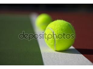Фотообои «Базовая линия теннисные мячи»