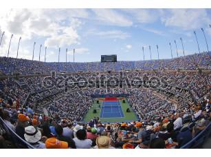 Фотообои «Артур Эш стадион во время церемонии открытия в США open 2014 женщины финал на Билли Джин Кинг Национальный теннисный центр»