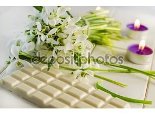 Фотообои «Белый шоколад»