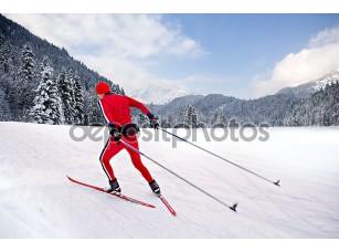 Фотообои «бег на лыжах»