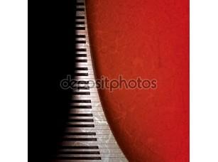 Фотообои «Гранж-фон с пианино»