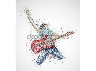 Фотообои «Абстрактный гитарист»
