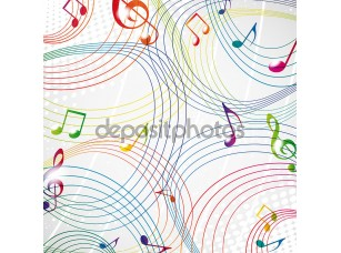 Фотообои «красочная музыка Примечание на сером фоне eps10.»