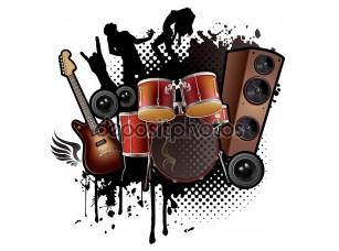 Фотообои «Аннотация рок музыки»