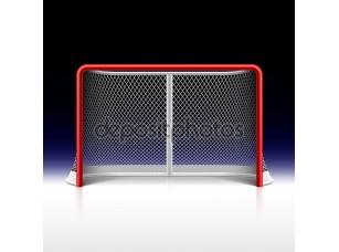 Фотообои «Net, цели хоккея на льду на черном»