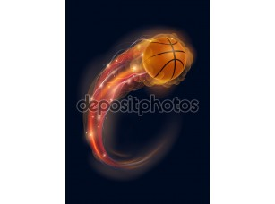Фотообои «Баскетбольная комета»