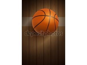 Фотообои «баскетбольный мяч на этаже»