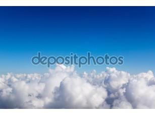 Фотообои «Cloudscape. Голубое небо и белые облака.»