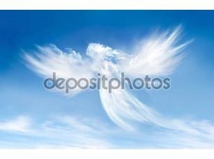 Фотообои «Ангел в облаках»