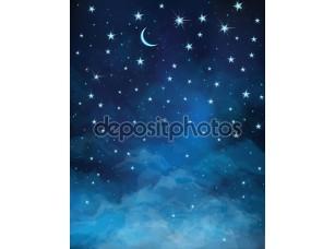 Фотообои «вектор ночное звездное небо.»