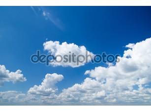 Фотообои «Белые облака на небе»